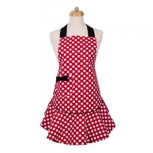 Červená kuchyňská zástěra Minnie